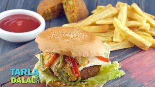 Veggie Burger by Tarla Dalal