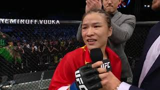 UFC Shenzhen: Zhang Weili and Jessica Andrade Octagon Interviews