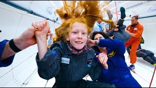 Extraordinary Kids fly in ZERO GRAVITY !  4K