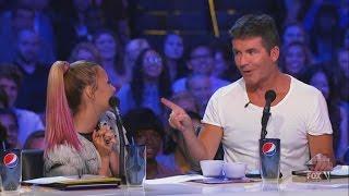 Demi Lovato and Simon Cowell - Funniest moments on The X factor - Season 2 (1/6) LEGENDADO