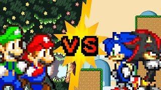 Mario and Luigi VS Sonic and Shadow (Part 2/2) - Sprite animation