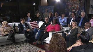 Watch: Voters in heated dispute over Trump