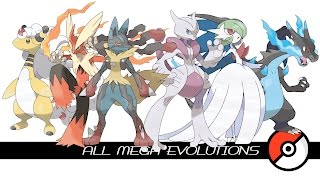 All Mega Evolutions (メガシンカ)