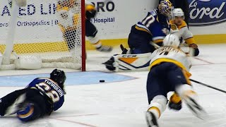 Blues' Chris Thorburn saves day swiping puck out of crease