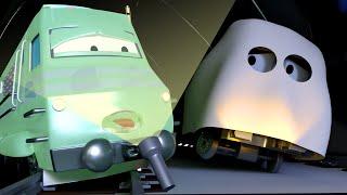 Der Gespensterzug 💀 🎃 Halloween in Car City 👻 Cartoons für Kinder