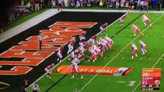 Clemson Vs. Alabama 2017 Final Play!