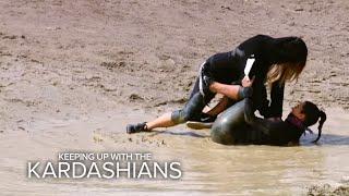 KUWTK | Khloe Tackles Kim on a Mud Run | E!