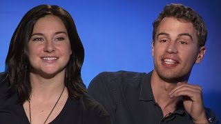 Theo James & Shailene Woodley Talk Kissing In Insurgent