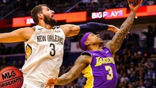 Los Angeles Lakers vs New Orleans Pelicans Full Game Highlights / March 22 / 2017-18 NBA Season