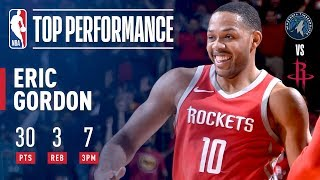 Eric Gordon Drops 30 Off the Bench in a Victory Over the Timberwolves | January 18, 2018