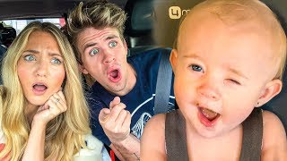 Baby Posie's Hilarious Reaction Eating Nasty Baby Food For 1st Time!!!