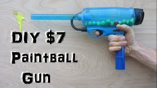 Homemade Paintball Gun! (Easy and Cheap!) mini potato gun