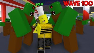 FIGHTING THOUSANDS OF ZOMBIES SOLO! (Roblox Zombie Attack)