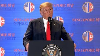 Trump speaks after historic summit with Kim Jong Un