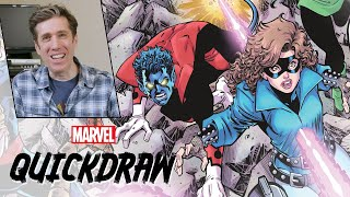 Drawing the '80s X-Men with Todd Nauck | Marvel Quickdraw