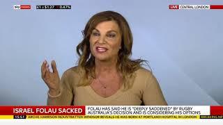 Andrea Williams debating Israel Folau sacking on Sky News