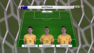 Match 12: Chile v Australia -Team Lineups - FIFA Confederations Cup 2017