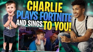 Charlie plays Fortnite with Jordan Fisher and sings TO YOU!