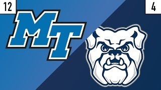 12 Middle Tennessee vs. 4 Butler Prediction | Who