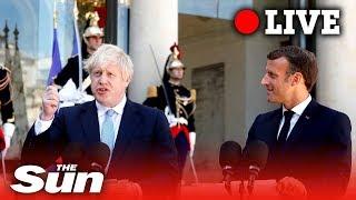 Boris Johnson makes joint statement with Emmanuel Macron | LIVE