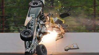 IndyCar - 2015 Indianapolis 500 - Crash Compilation (No Music)