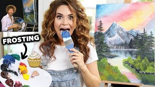 I Tried Following A Bob Ross Tutorial Using Frosting!