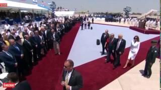 Melania Trump swatting Donald