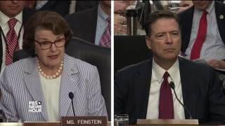 Comey tells Sen. Feinstein he was
