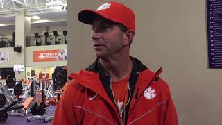 Dabo Swinney had a very special visit from military