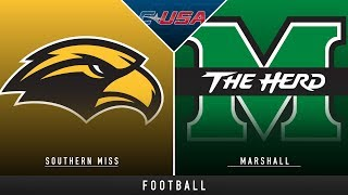 Southern Miss vs Marshall - College Football Hype | Stadium
