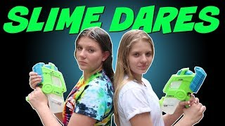 EXTREME SLIME DARES    Taylor and Vanessa