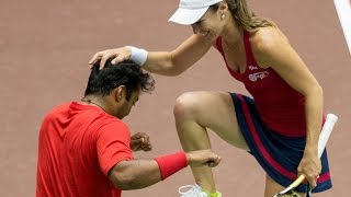 Leander Paes & Martina Hingis 7/14/14 Mixed Doubles Highlights