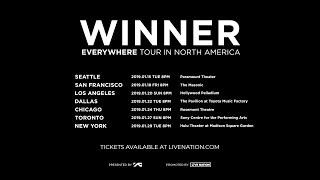 WINNER EVERYWHERE TOUR IN NORTH AMERICA