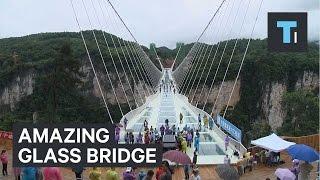 Amazing glass bridge