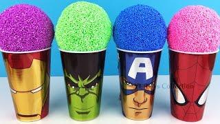 Marvel Avengers Foam Surprise Iron Man Hulk Captain America with Mr Potato Head