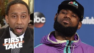 Stephen A. Smith sends warning to LeBron James about possibly joining Warriors   First Take   ESPN
