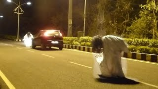 REAL SCARY GHOST SISTERS (prank gone horribly wrong) *PAPACRAZY in INDIA