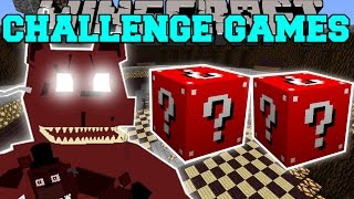 Minecraft: NIGHTMARE FREDDY CHALLENGE GAMES - Lucky Block Mod - Modded Mini-Game