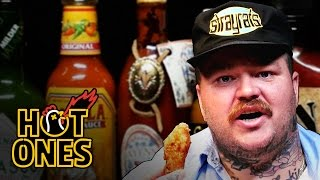 Matty Matheson Turns Into a Motivational Speaker Eating Spicy Wings   Hot Ones