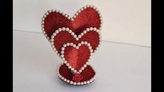 DIY Beautiful Heart showpiece // Gifts Ideas 2018//Beautiful Heart showpiece