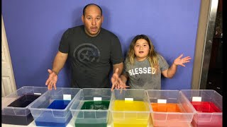 MAKING 6 GALLONS OF CLEAR RAINBOW SLIME - MAKING GIANT CLEAR SLIMES