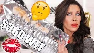 I SPENT $500 on KYLIE BRUSHES & LIPSTICKS   Try on Review