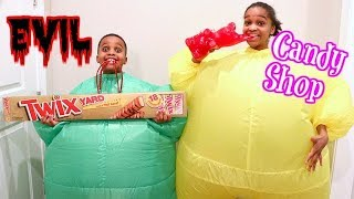 GIANT Candy Shop - Greedy Granny In Real Life - Shasha And Shiloh - Onyx Kids