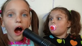 Bad Baby Victoria Vacuum Attacks Annabelle & Crybaby Daddy Toy Freaks Babies
