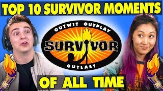 Survivor Contestants React To Top 10 SURVIVOR Moments Of All Time | Generations React