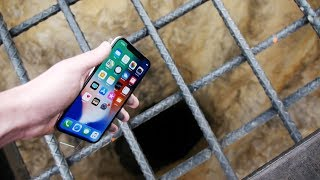 Dropping an iPhone X Down 4000 FT Deep Hole! - What