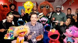 "Jimmy Fallon, Sesame Street & The Roots Sing ""Sesame Street"" Theme (w/ Classroom Instruments)"
