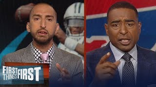 Cris Carter on Cam Newton confronting Kelvin Benjamin at preseason game | NFL | FIRST THINGS FIRST