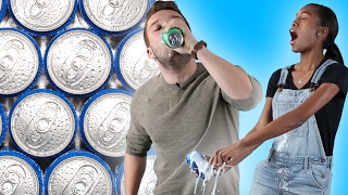 Adults Try Shotgunning Beers Without Instructions