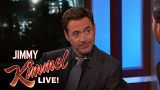 "Robert Downey Jr. Says Chris Evans Was Nervous at the ""Civil War"" Premiere"